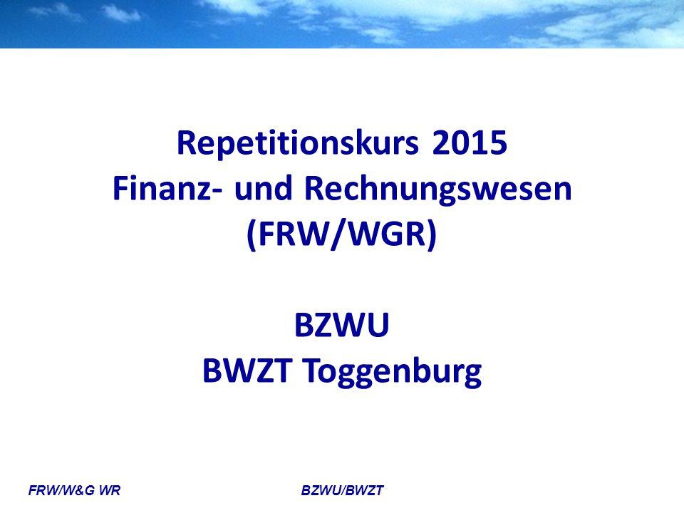 Finanz- und Rechnungswesen (FRW/WGR)