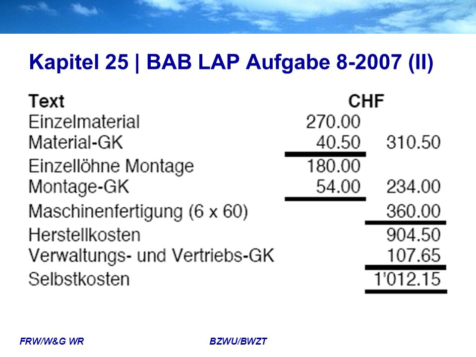 Kapitel 25 | BAB LAP Aufgabe 8-2007 (II)