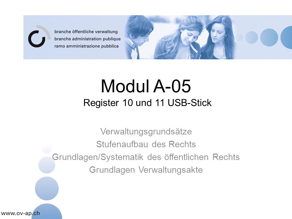 Modul A-05 Register 10 und 11 USB-Stick