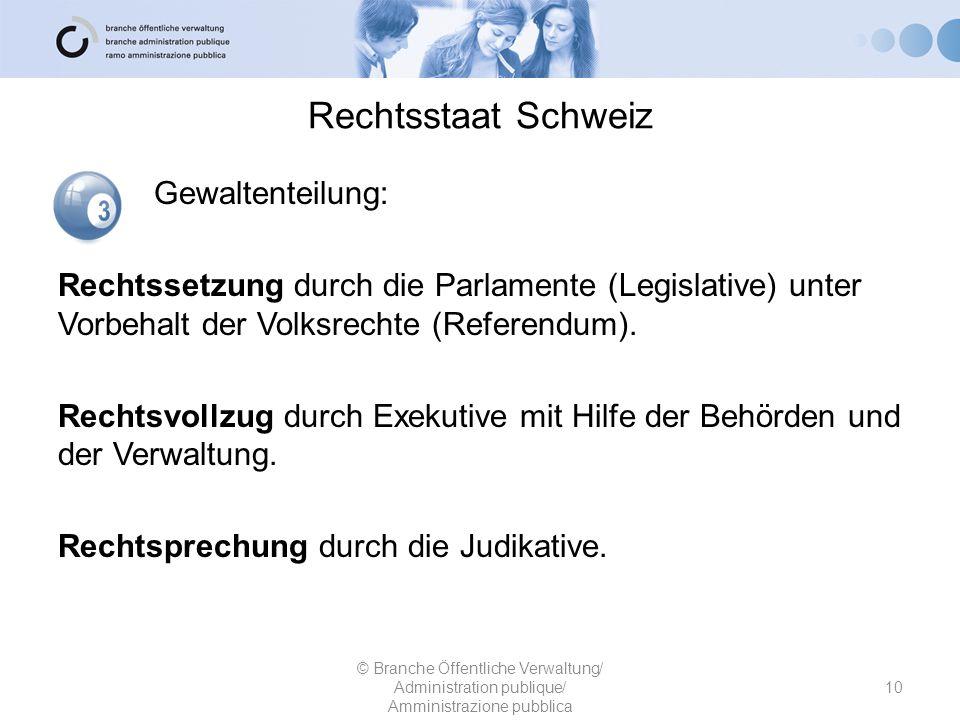 Rechtsstaat Schweiz