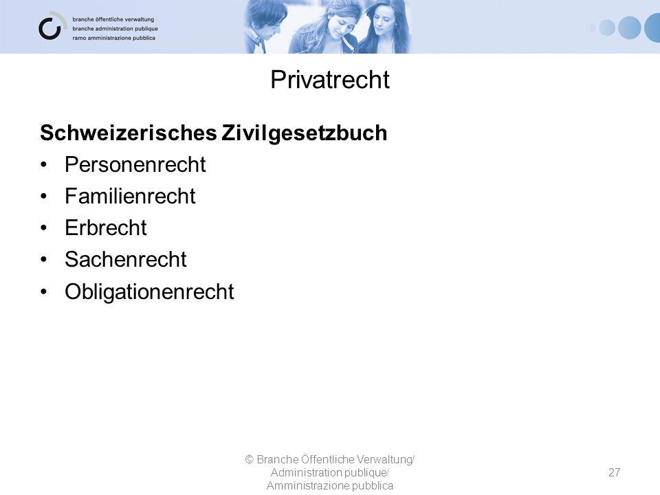 Privatrecht Schweizerisches Zivilgesetzbuch Personenrecht