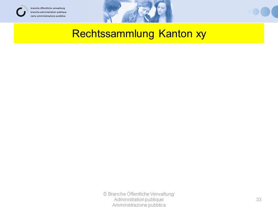 Rechtssammlung Kanton xy