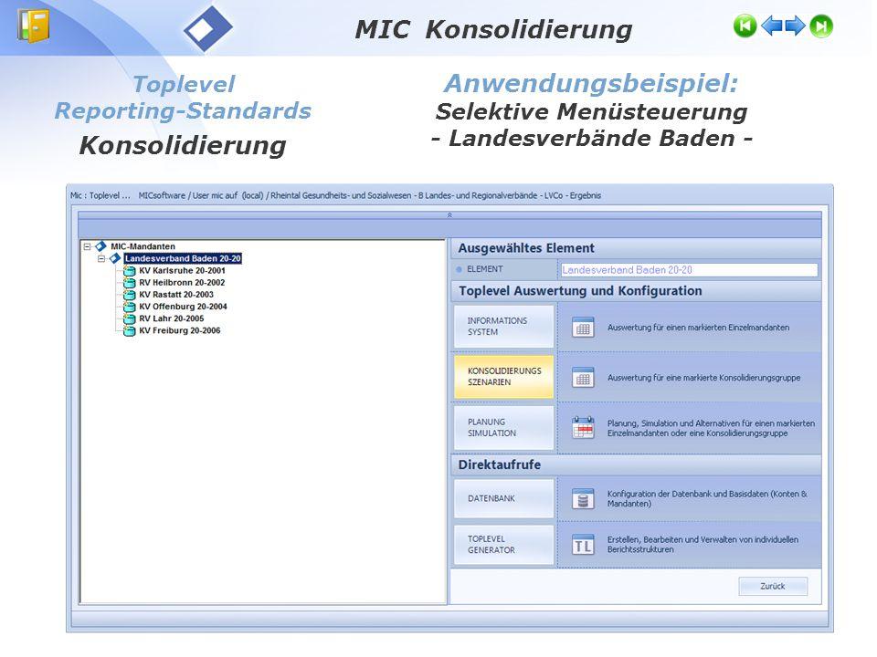 Selektive Menüsteuerung - Landesverbände Baden -