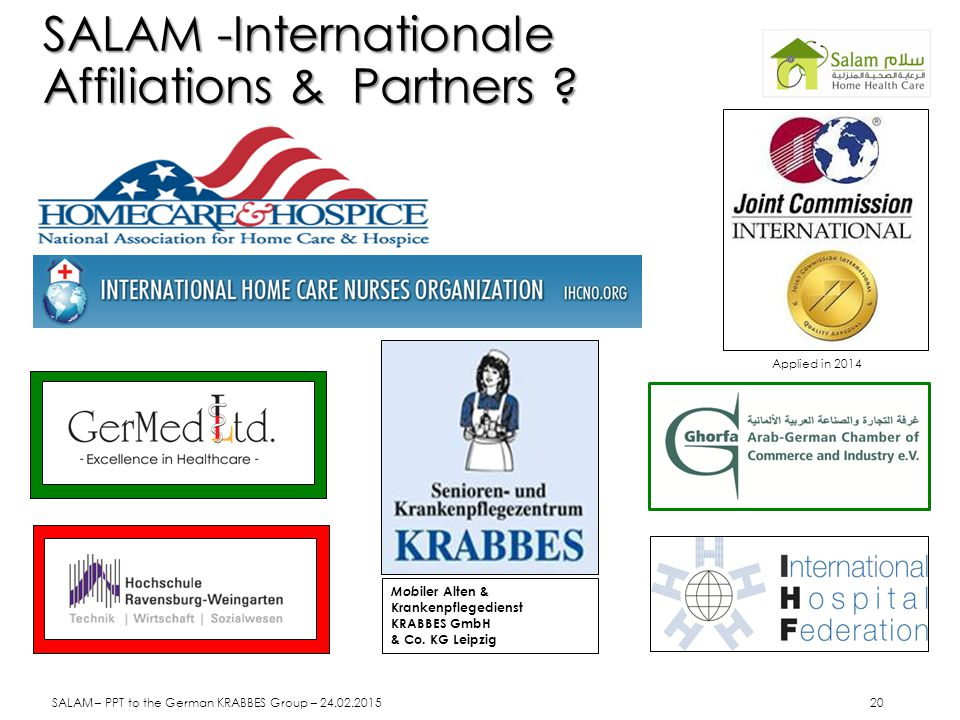SALAM -Internationale Affiliations & Partners