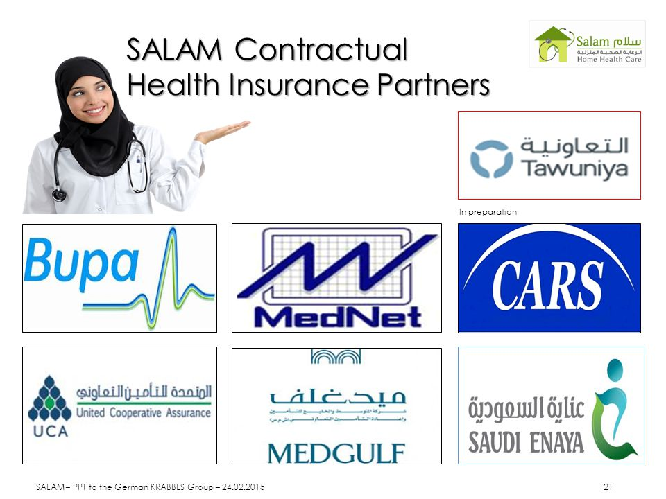 SALAM Contractual Health Insurance Partners