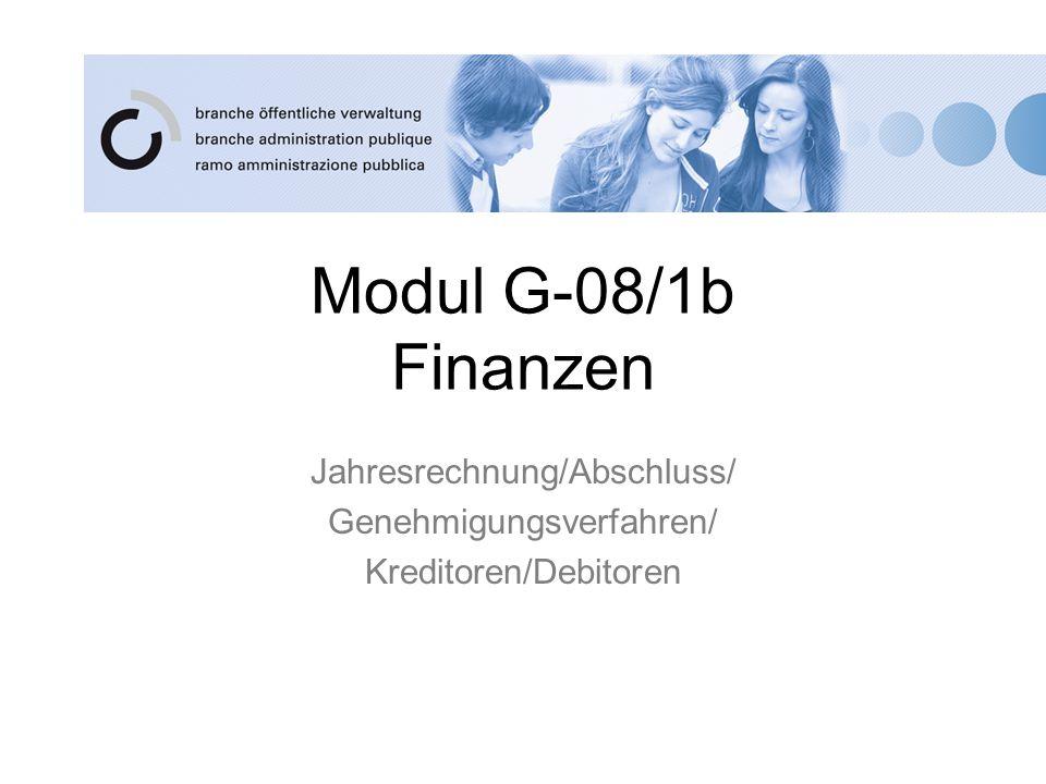 Jahresrechnung/Abschluss/ Genehmigungsverfahren/ Kreditoren/Debitoren