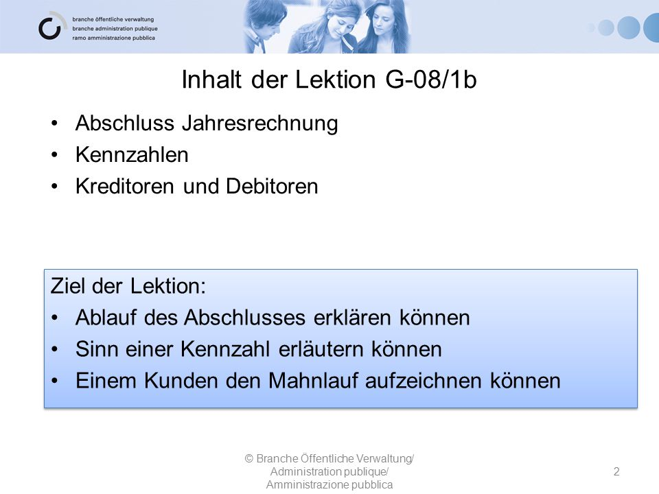 Inhalt der Lektion G-08/1b