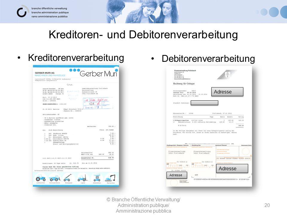 Kreditoren- und Debitorenverarbeitung