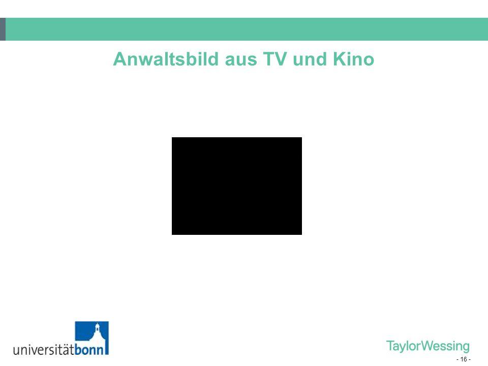 Anwaltsbild aus TV und Kino