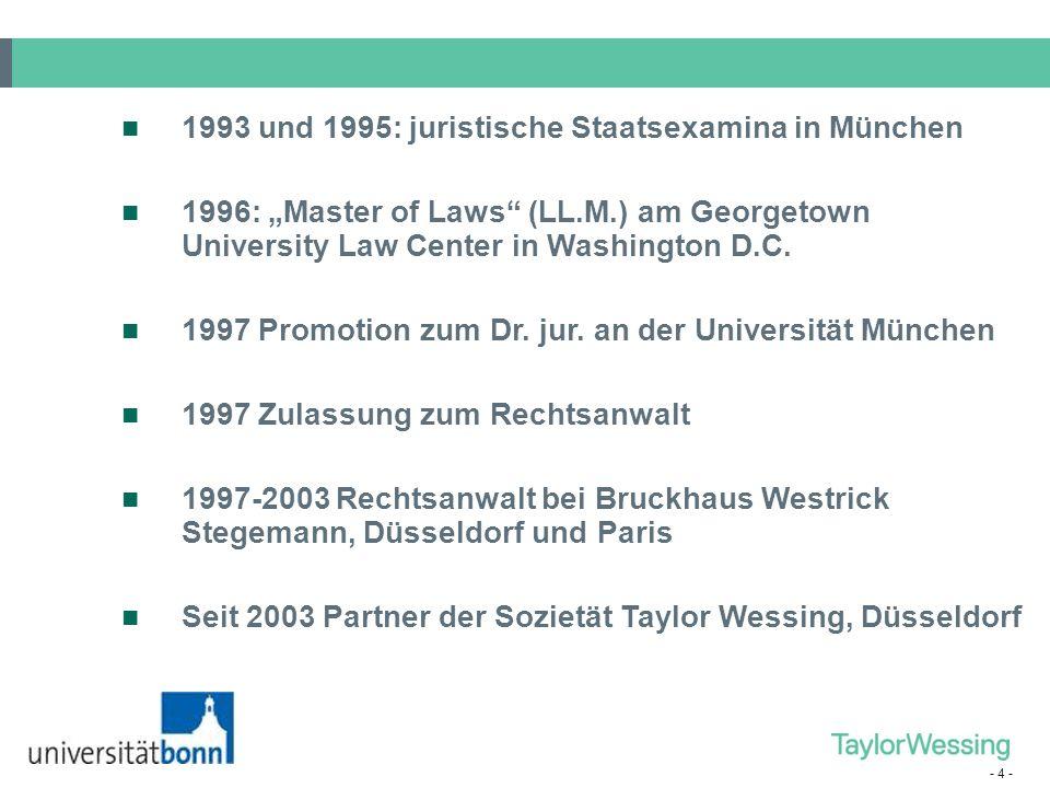 1993 und 1995: juristische Staatsexamina in München