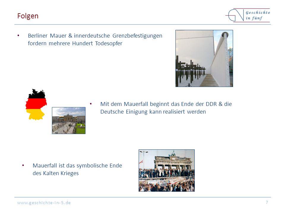 Folgen Berliner Mauer & innerdeutsche Grenzbefestigungen fordern mehrere Hundert Todesopfer.