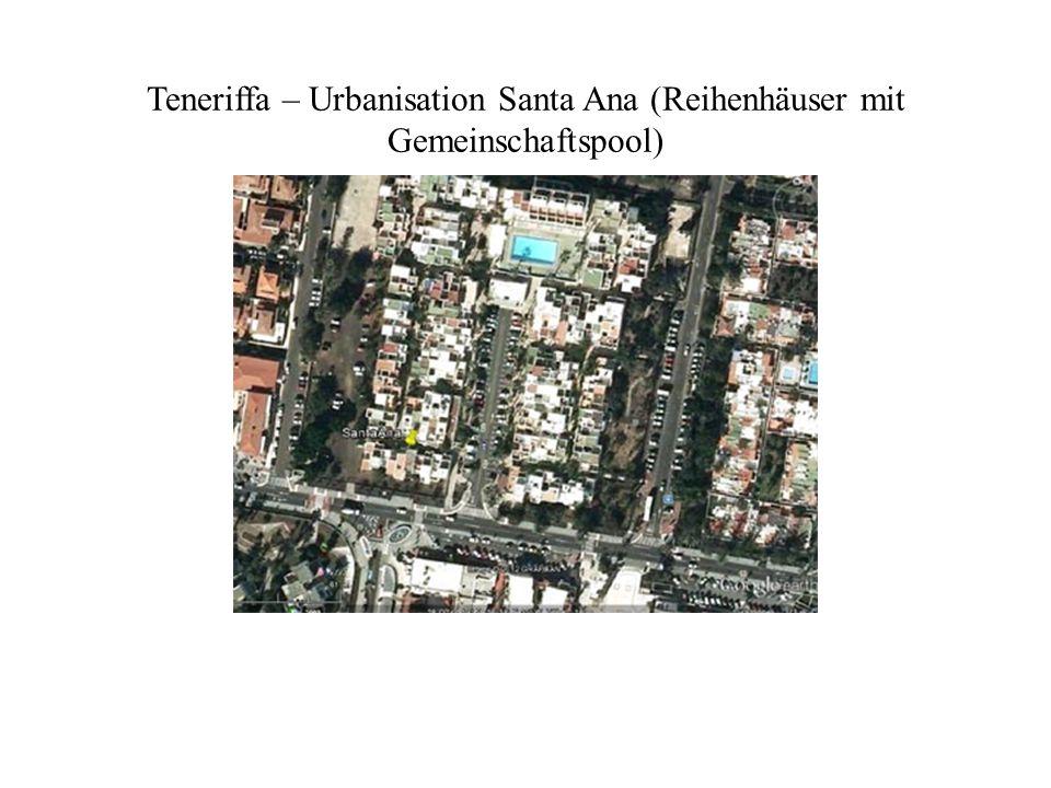 Teneriffa – Urbanisation Santa Ana (Reihenhäuser mit Gemeinschaftspool)