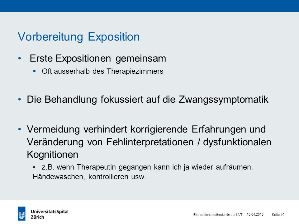 Exposition bei Zwang: Wirkprinzipien