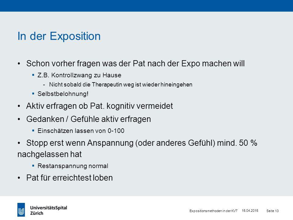 Durchführung Exposition- VideoBsp.