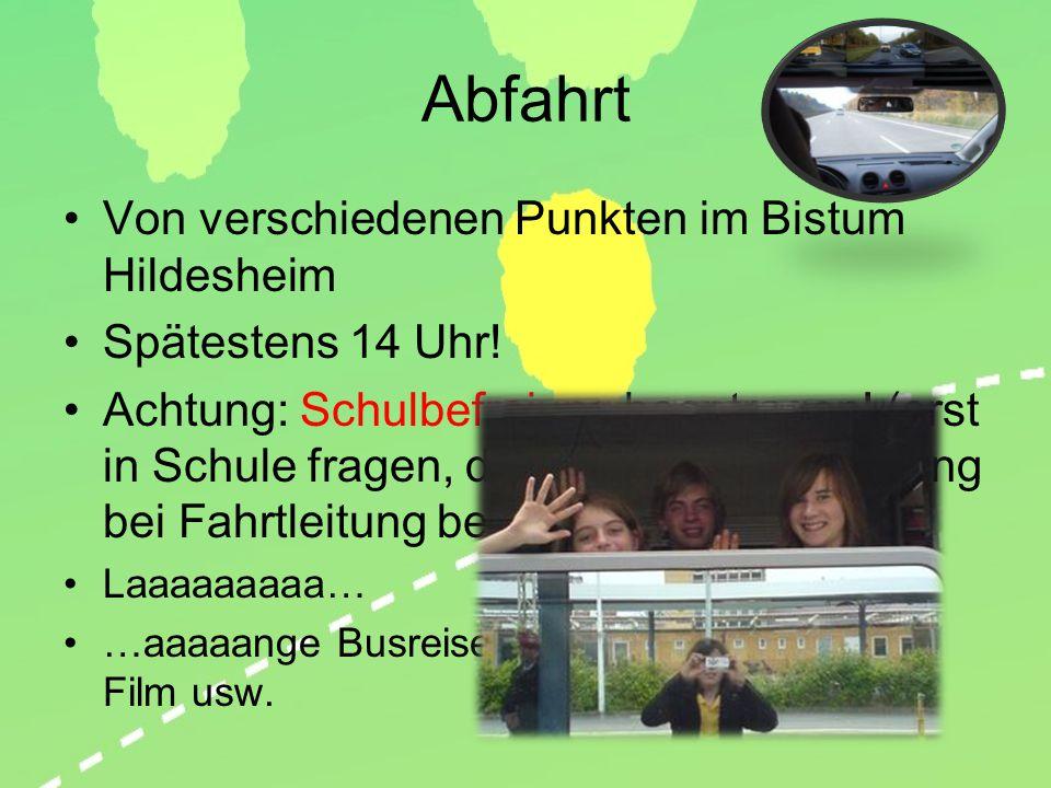Abfahrt Von verschiedenen Punkten im Bistum Hildesheim