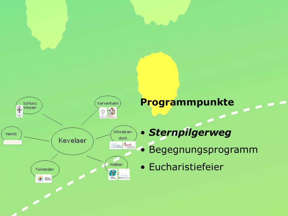 Programmpunkte Sternpilgerweg Begegnungsprogramm Eucharistiefeier