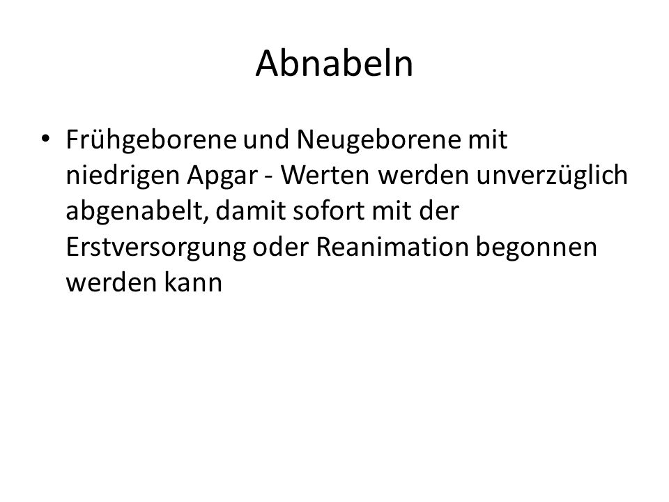 Abnabeln