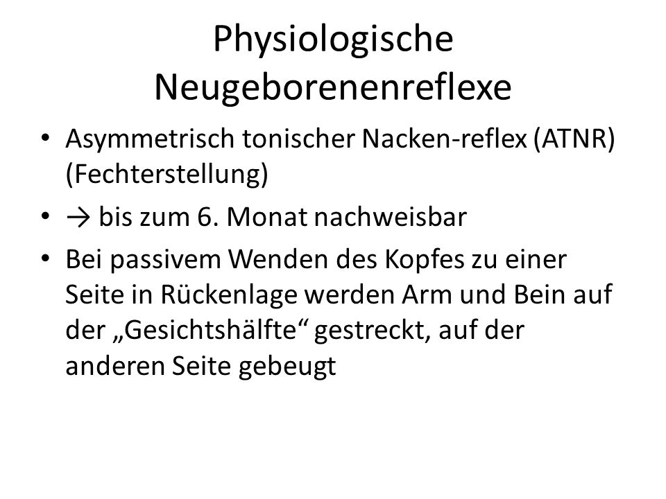 Physiologische Neugeborenenreflexe