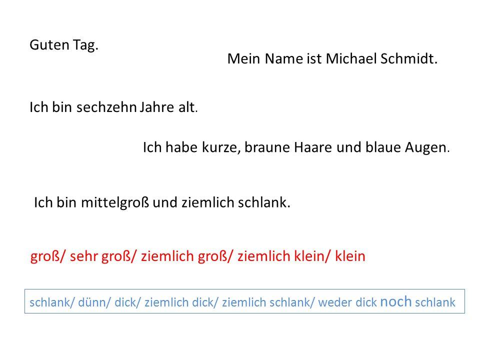 Mein Name ist Michael Schmidt.