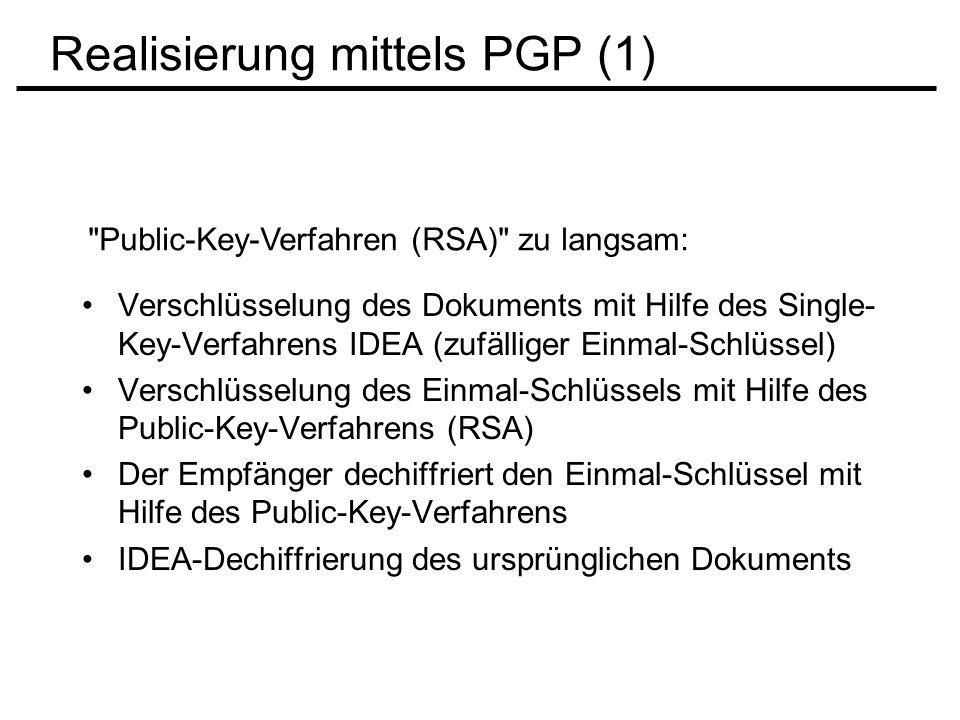 Realisierung mittels PGP (1)