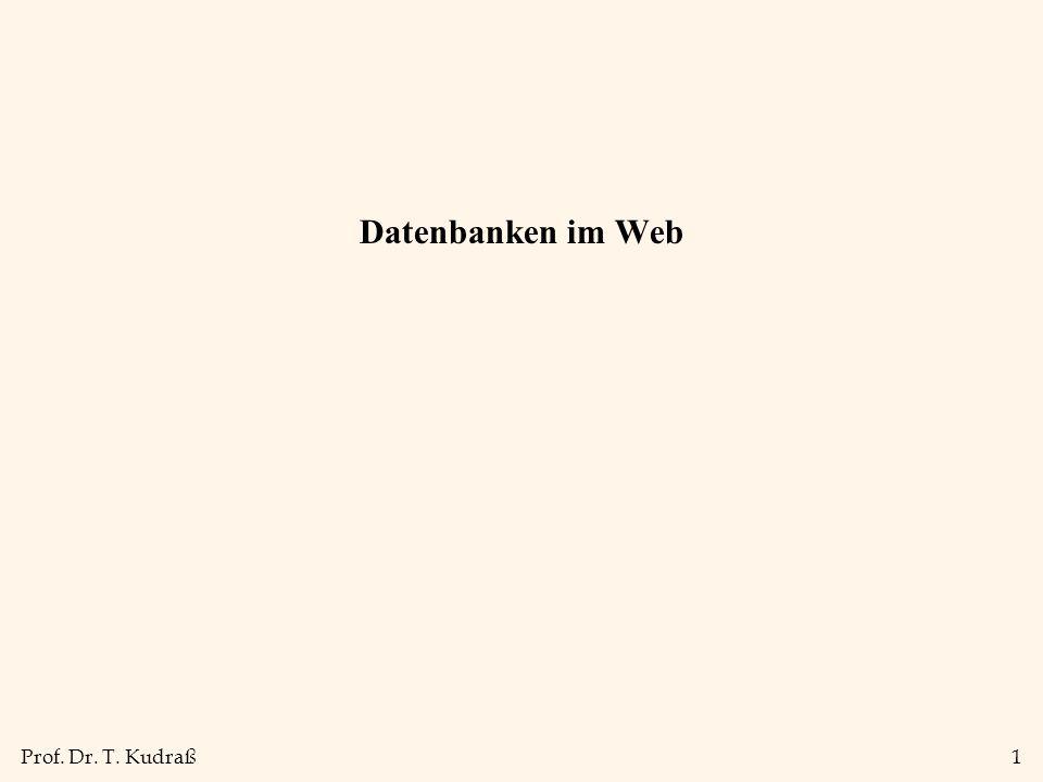 Datenbanken im Web 1