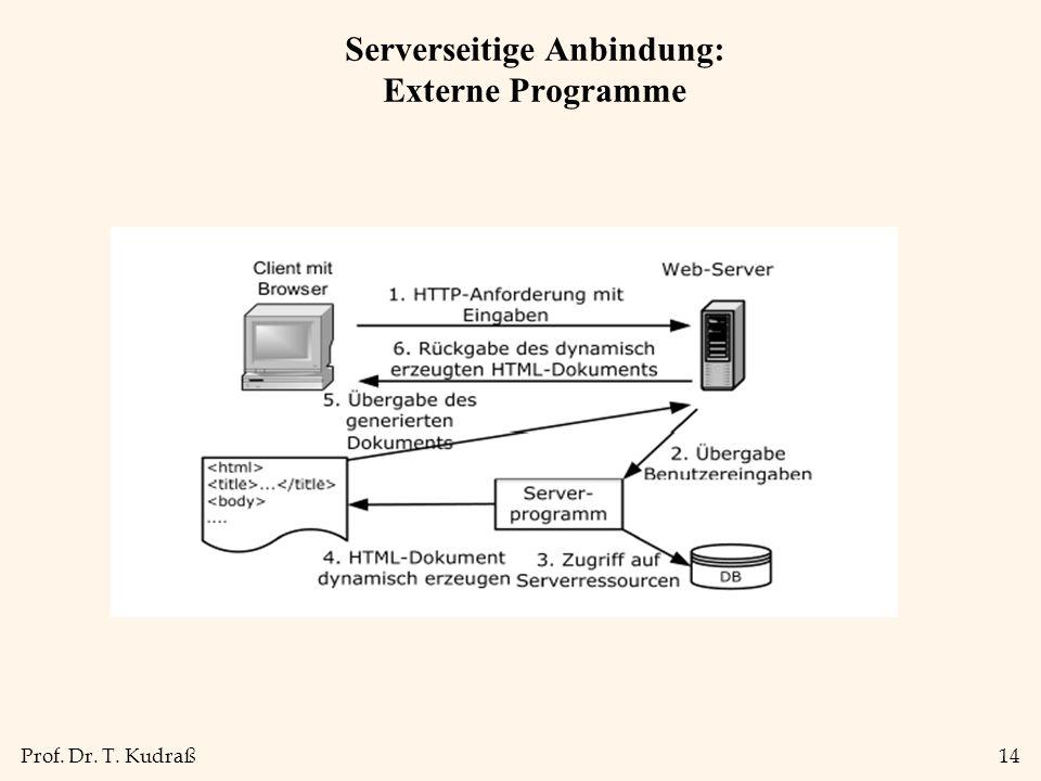 Serverseitige Anbindung: Externe Programme