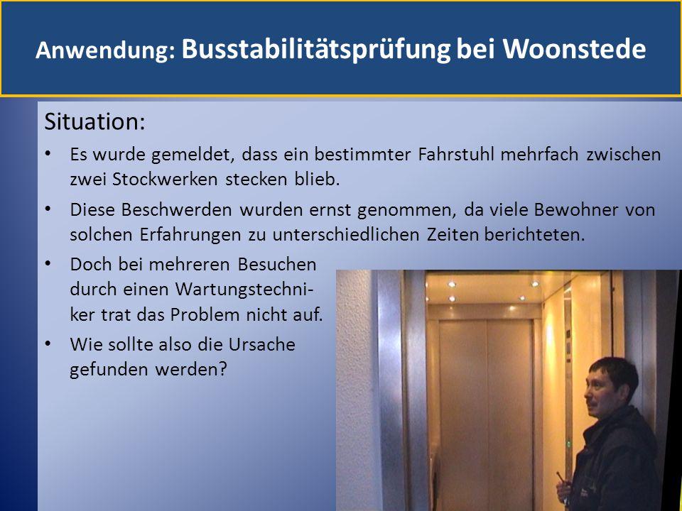 Anwendung: Busstabilitätsprüfung bei Woonstede