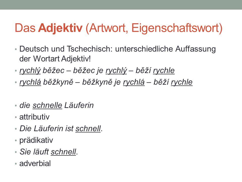 Das Adjektiv (Artwort, Eigenschaftswort)