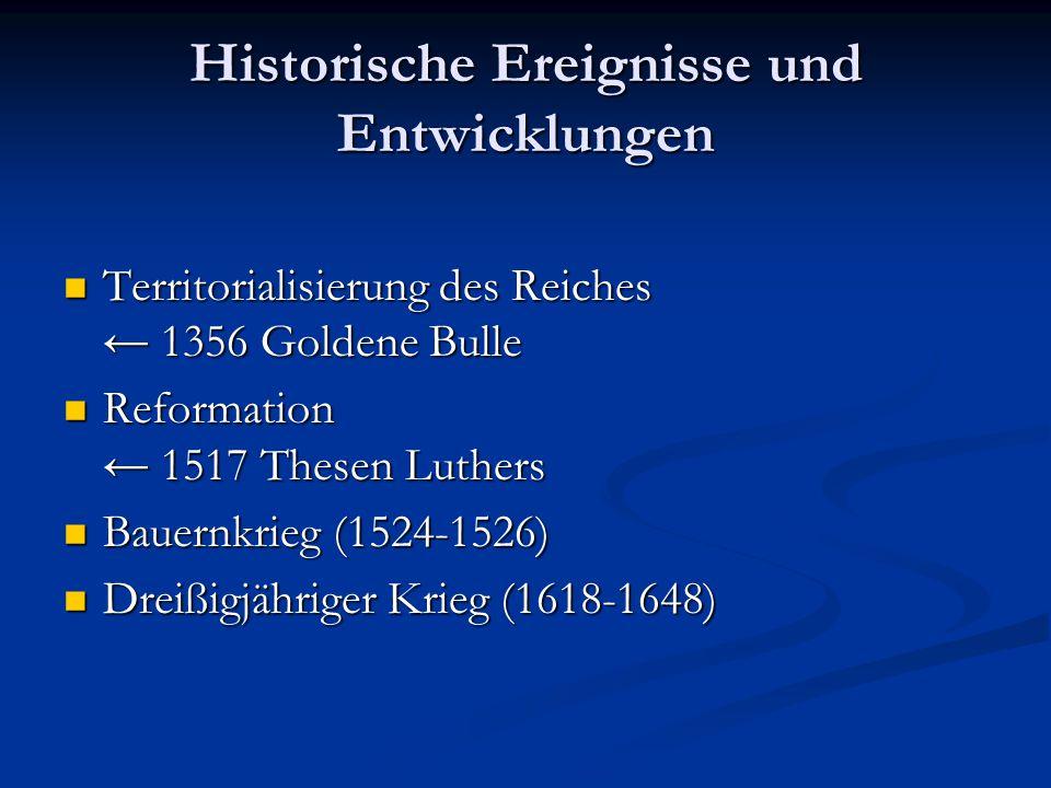 Historische Ereignisse und Entwicklungen
