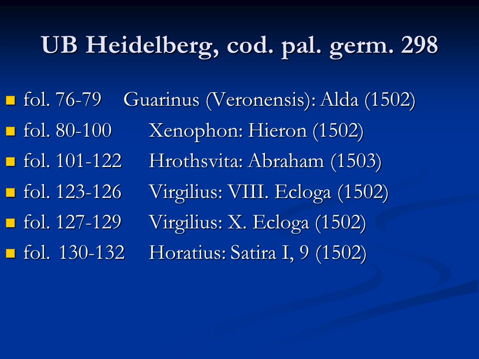 UB Heidelberg, cod. pal. germ. 298