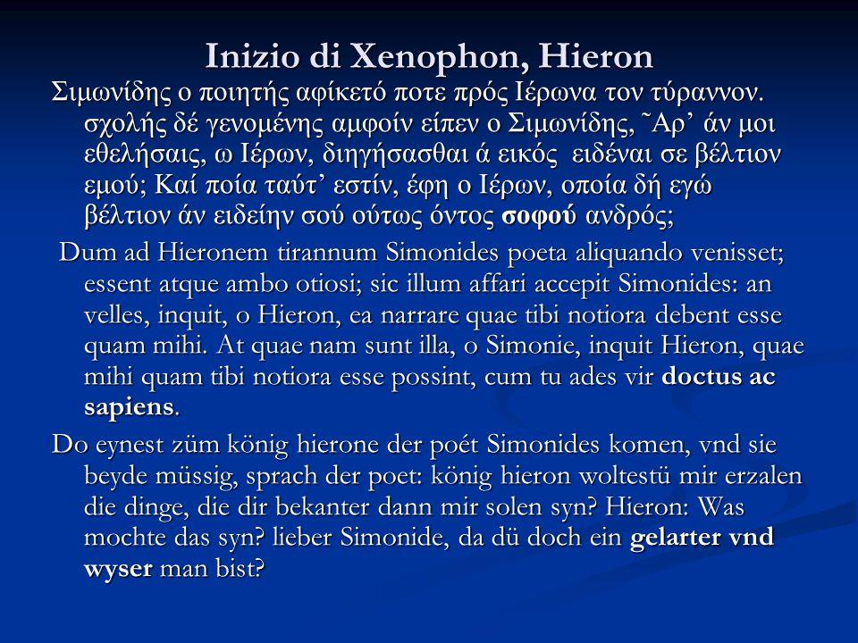 Inizio di Xenophon, Hieron