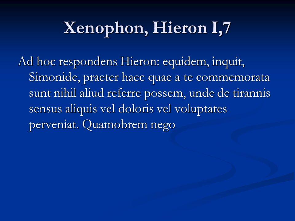 Xenophon, Hieron I,7