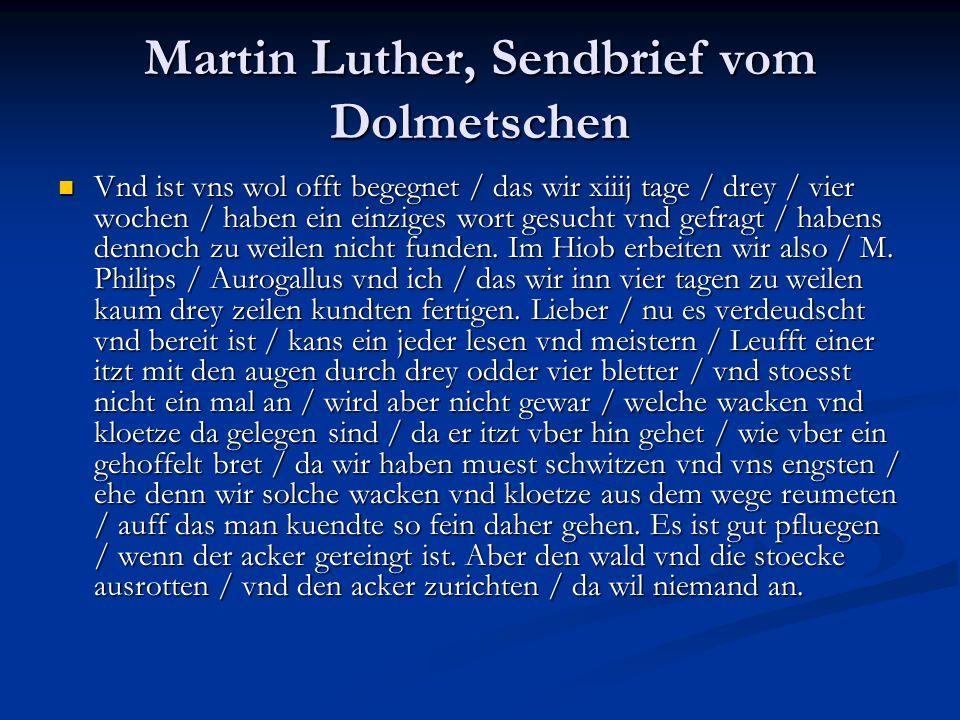 Martin Luther, Sendbrief vom Dolmetschen