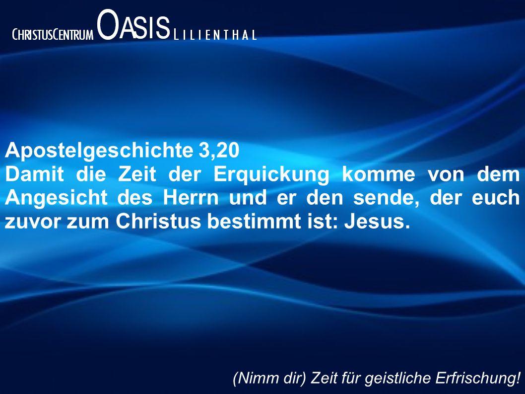 Apostelgeschichte 3,20