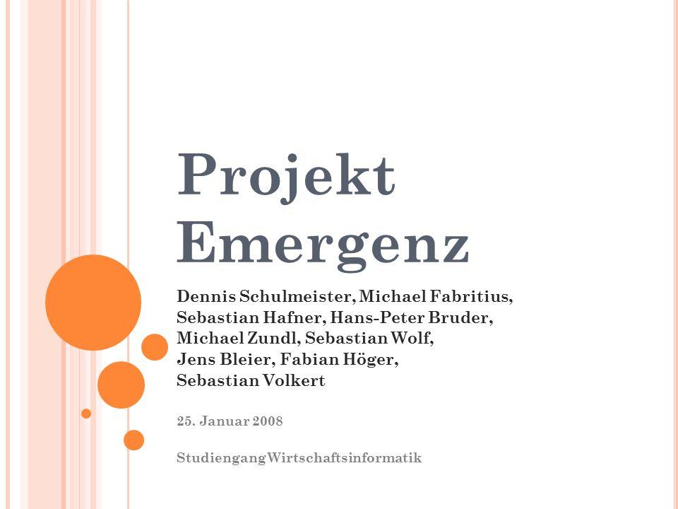 Projekt Emergenz Dennis Schulmeister, Michael Fabritius,