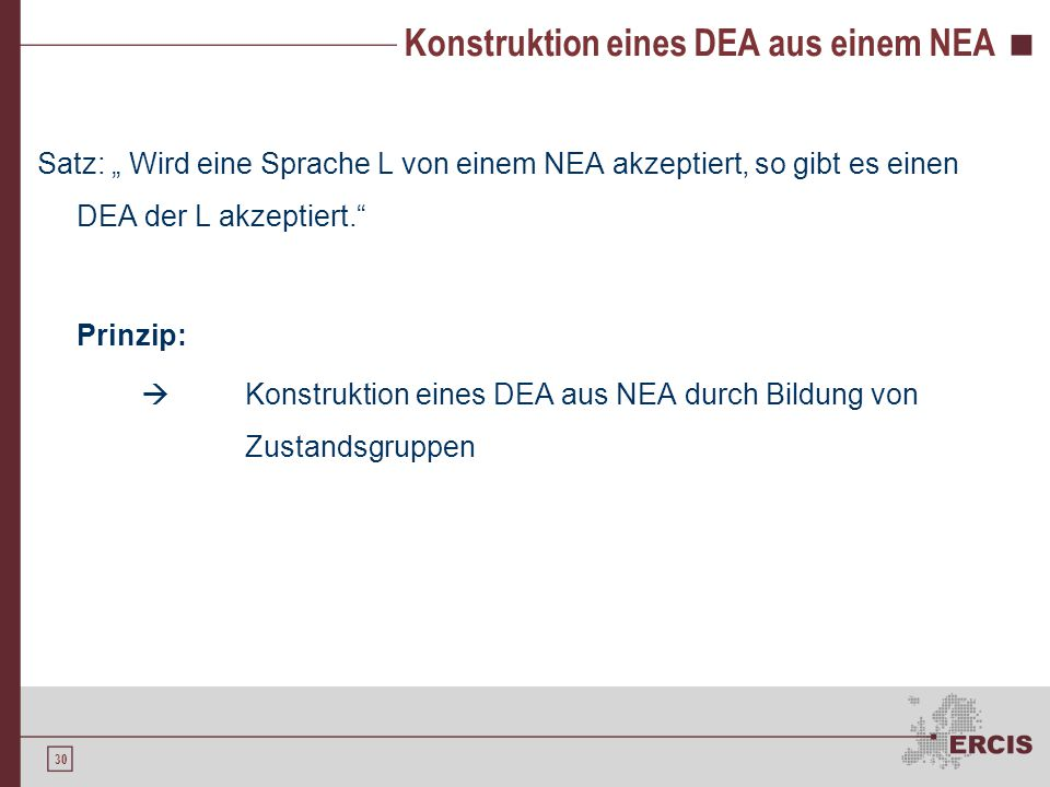 Konstruktion eines DEA aus einem NEA