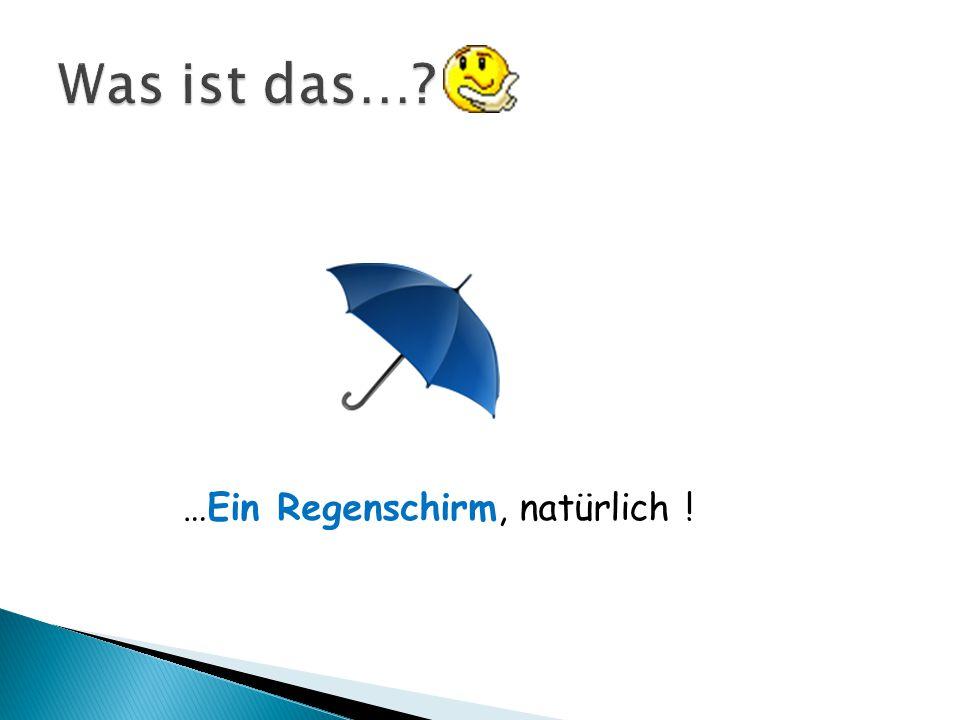Was ist das… …Ein Regenschirm, natürlich !