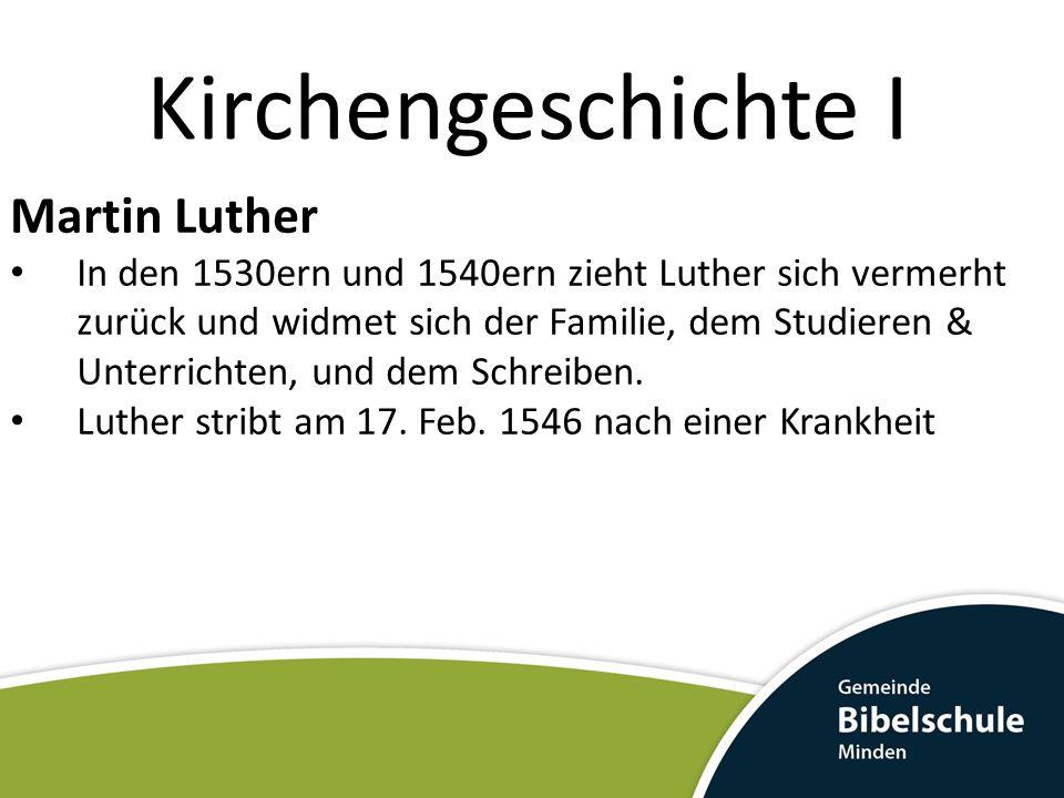 Kirchengeschichte I Martin Luther