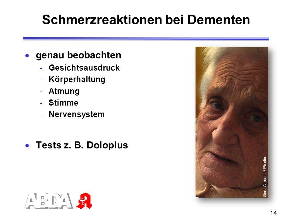 Schmerzreaktionen bei Dementen