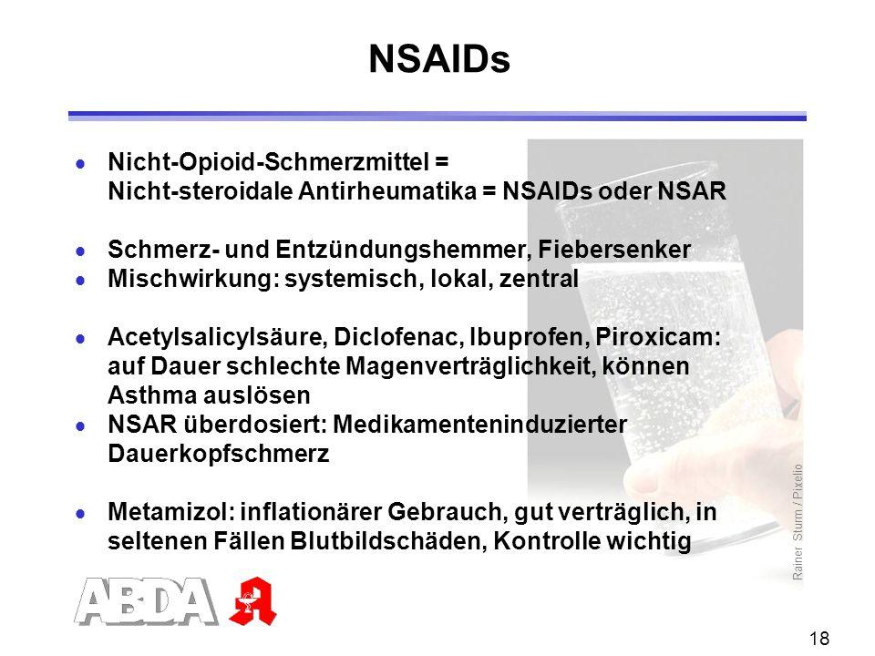 NSAIDs Nicht-Opioid-Schmerzmittel =