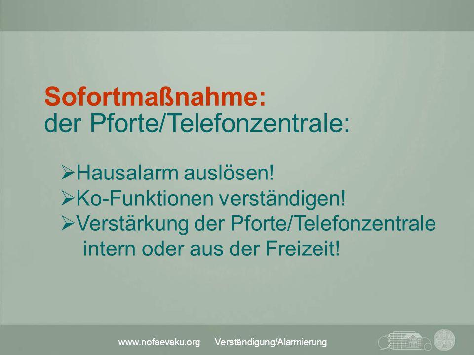 der Pforte/Telefonzentrale: