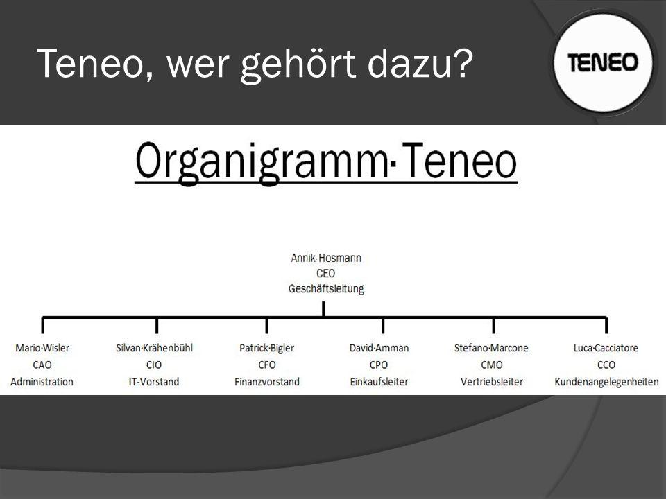 Teneo, wer gehört dazu. Teneo-Team bestht aus: 6 Gymnasiasten 1 Gymnasiastin.