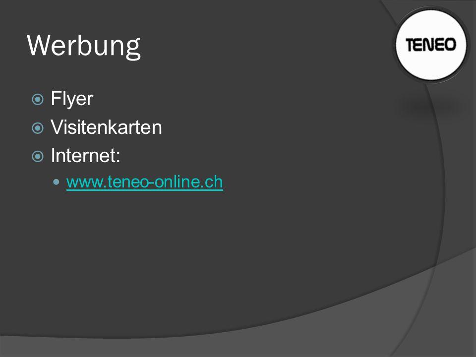 Werbung Flyer Visitenkarten Internet: www.teneo-online.ch