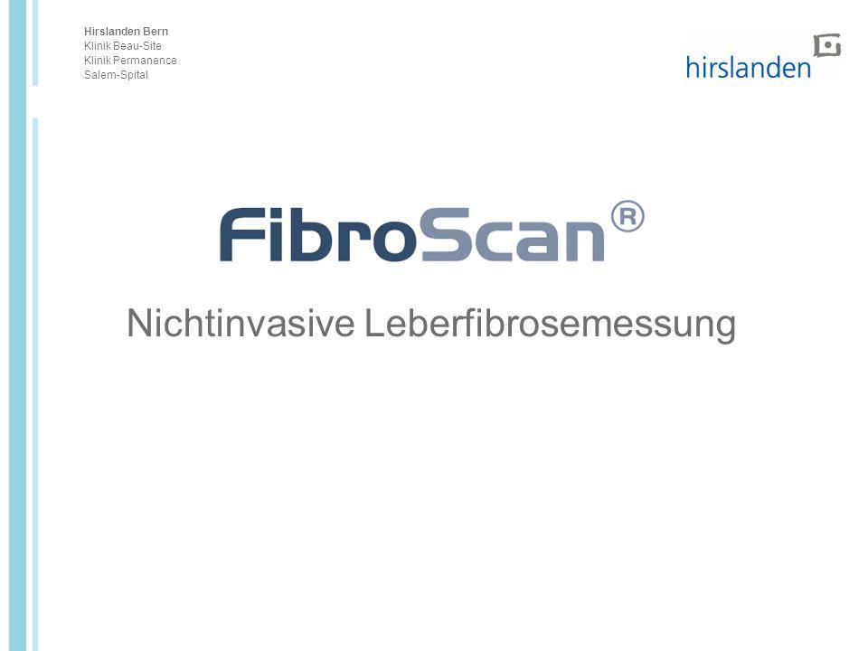 Nichtinvasive Leberfibrosemessung