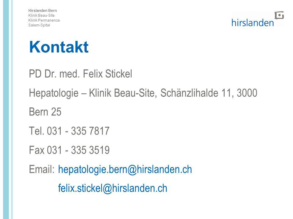 Kontakt PD Dr. med. Felix Stickel