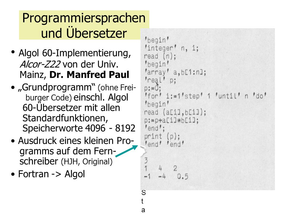 Programmiersprachen und Übersetzer