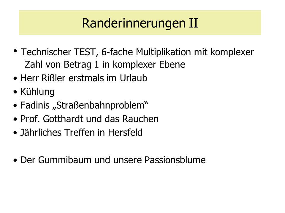 Randerinnerungen II Technischer TEST, 6-fache Multiplikation mit komplexer Zahl von Betrag 1 in komplexer Ebene.