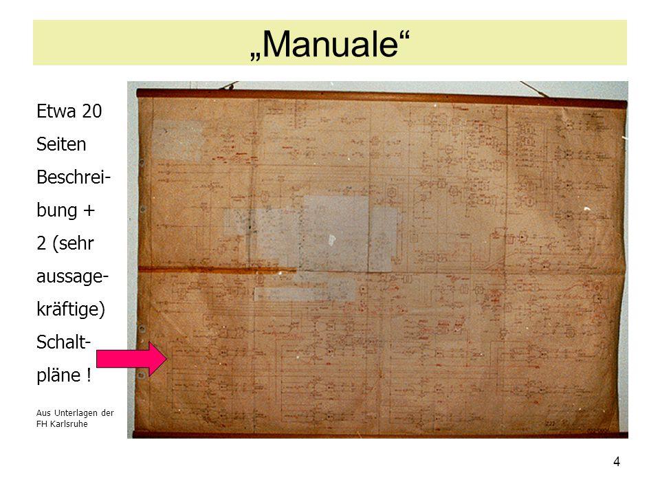 """""""Manuale Etwa 20 Seiten Beschrei- bung + 2 (sehr aussage- kräftige)"""