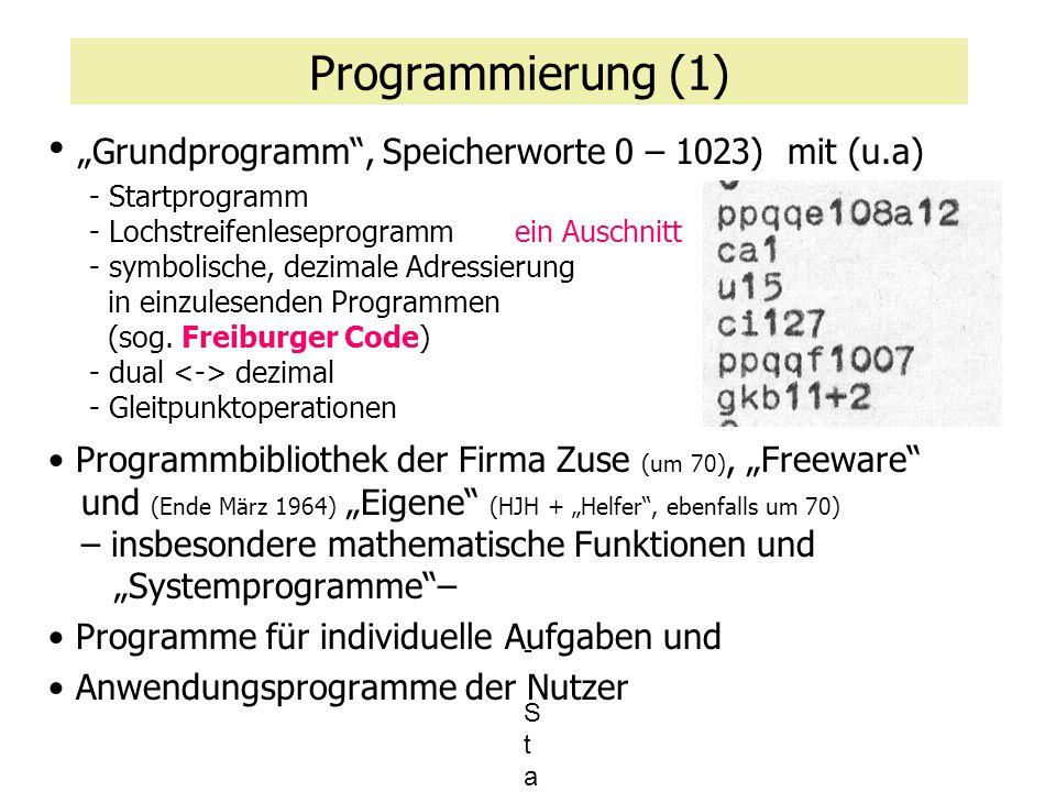 """""""Grundprogramm , Speicherworte 0 – 1023) mit (u.a)"""