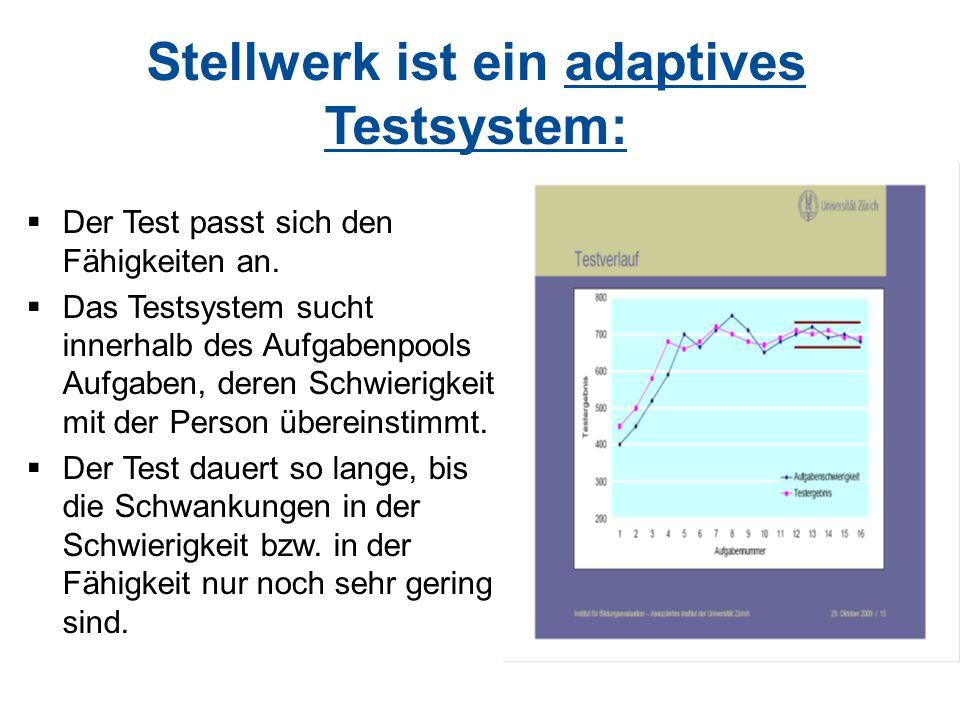 Stellwerk ist ein adaptives Testsystem: